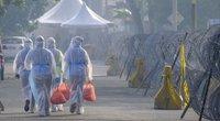 Koronaviruso pandemija: Malaizijoje pacientams tiekiami maisto daviniai (nuotr. SCANPIX)