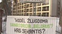 """Baltarusiškos sanatorijos darbuotojai nesuvokia sankcijų: """"Mes čia reabilituojame vaikus"""" (nuotr. stop kadras)"""