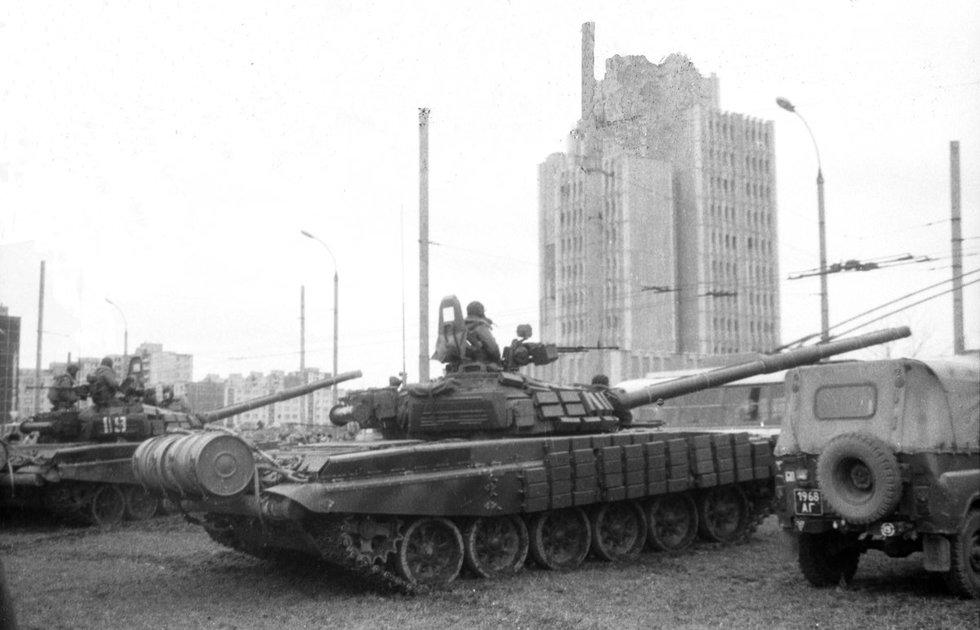 1991-ųjų metų sausio 13-oji (nuotraukos autorius V. Kapočius)