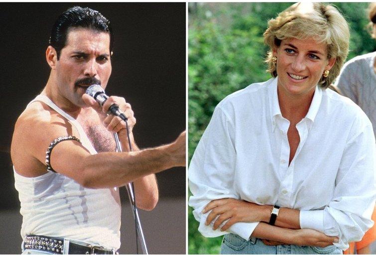 Freddie Mercury ir princesė Diana (tv3.lt fotomontažas)