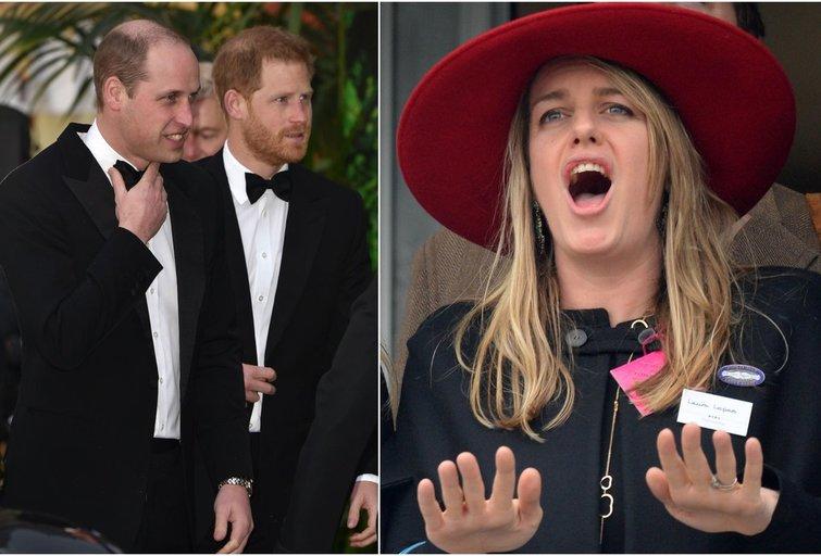 Princas Williama, Princas Harry ir jų įseserė Laura Lopes (tv3.lt fotomontažas)