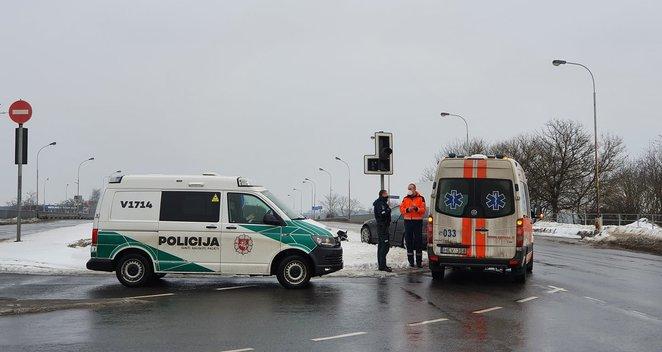 BMW avarija Vilniuje