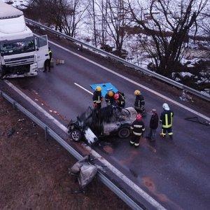 Kraupi vilkiko ir automobilio kaktomuša Trakų rajone: žuvo žmogus