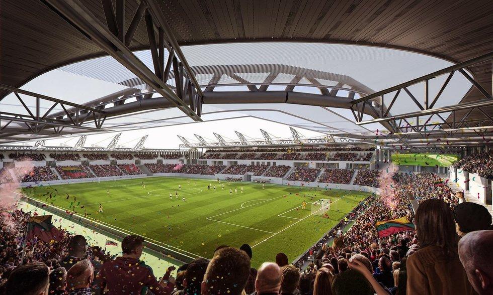 Nacionalinio stadiono projektas (nuotr. vilnius.lt)