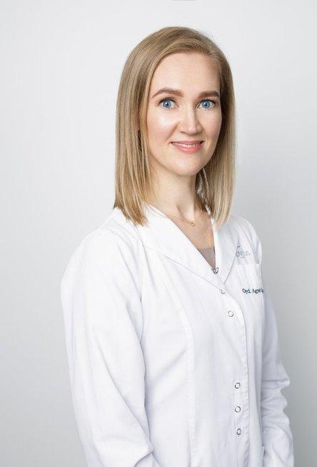 Gydytoja dermatovenerologė Agnė Bagdonė.
