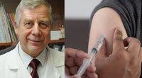V. Usonis apie vakciną nuo koronaviruso (tv3.lt fotomontažas)