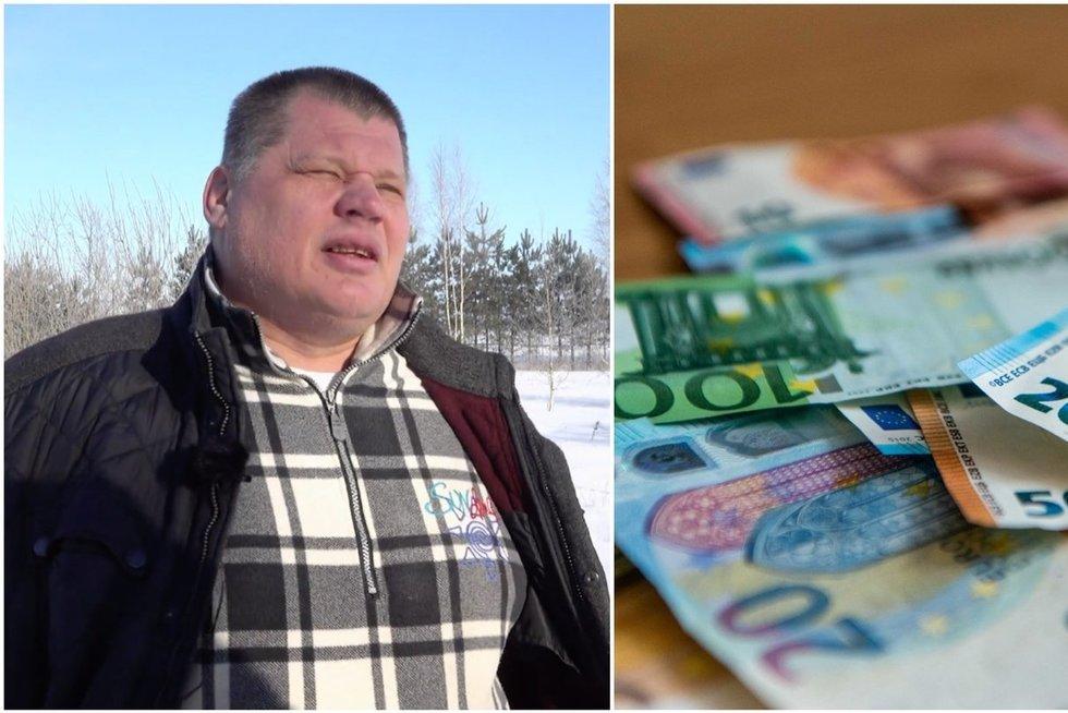 Lietuvos bedarbių karalius Zebkinas įtūžo: už pašalpą seniūnas jam liepė atidirbti (tv3.lt koliažas)