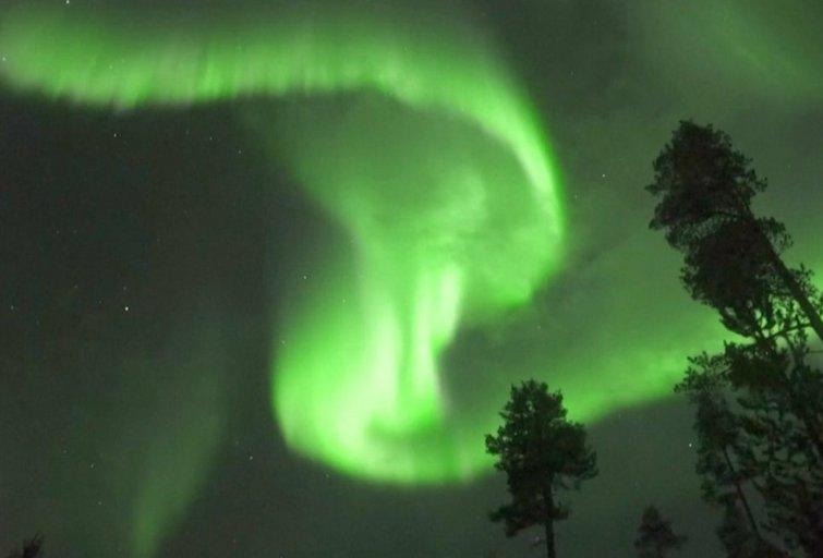 Šiaurės pašvaistė (nuotr. stop kadras)