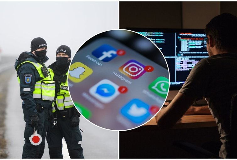 Būkite budrūs socialiniuose tinkluose – jus stebės virtualus patrulis (tv3.lt koliažas)