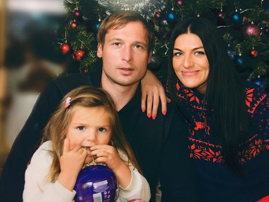 Diana Lobačevskė su šeima