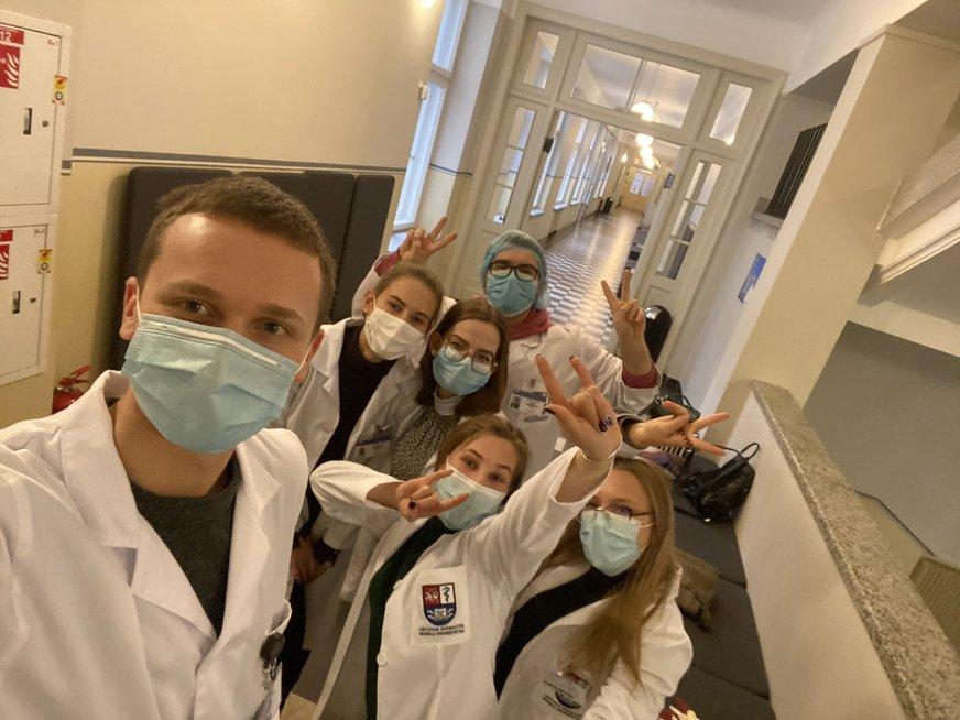 Tautvydas Ribinskas su kurso draugais
