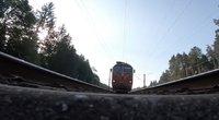 Traukinys. Asociatyvi nuotrauka (nuotr. stop kadras)