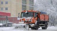 Sniego valymas (nuotr. Fotodiena/Justinas Auškelis)