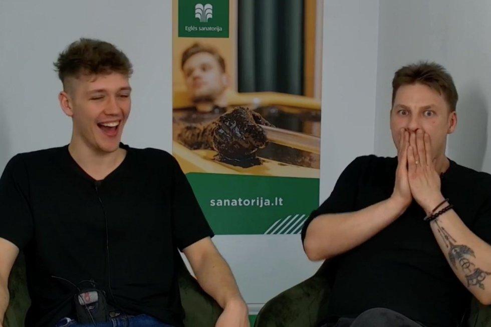 Norbertas Liatkovskis ir Justinas Lapatinskas (nuotr. stop kadras)