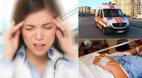Šią ligą dažnai laiko paprastu galvos skausmu: ja tris kartus dažniau serga moterys (tv3.lt fotomontažas)