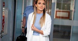 Monika Šedžiuvienė atvyko į teismą (nuotr. Fotodiena/Justino Auškelio)