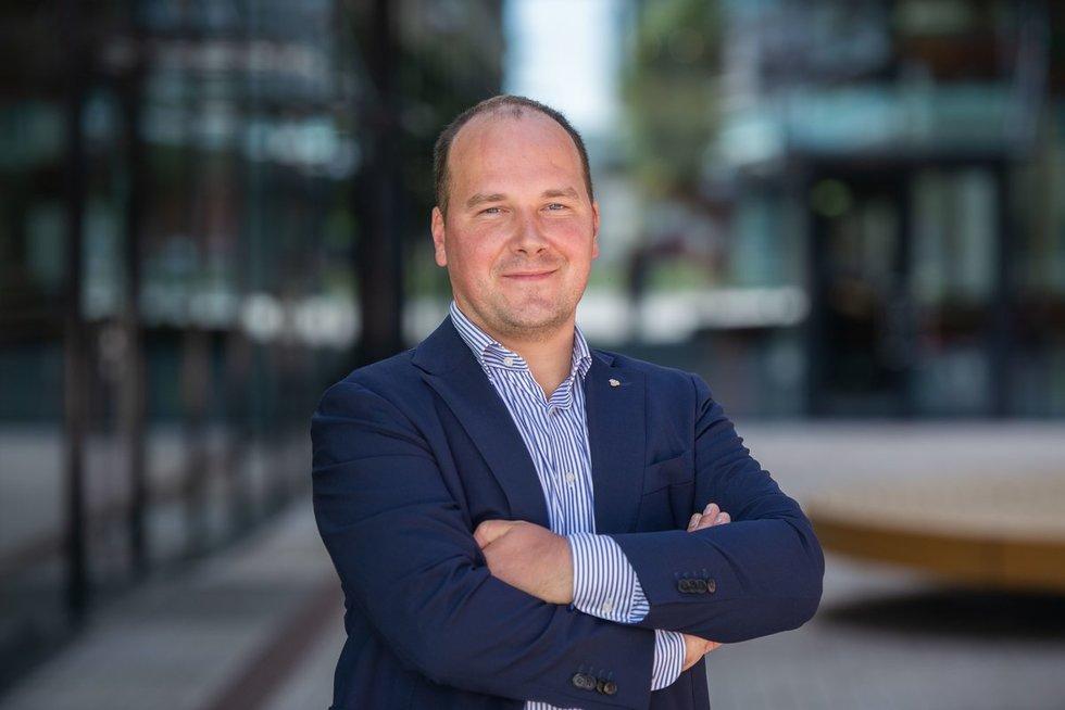 """""""Luminor"""" banko vyriausiasis ekonomistas Žygimantas Mauricas. Fotodiena/Viltė Domkutė"""