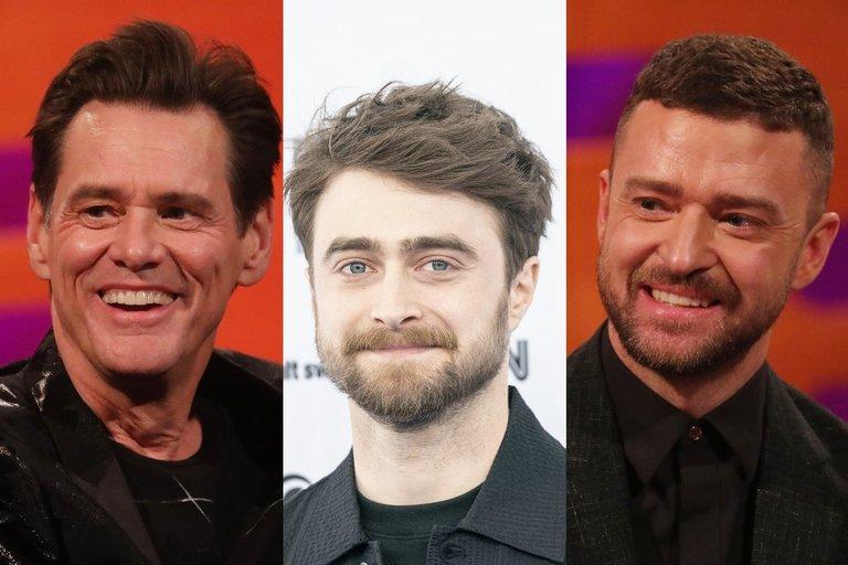 Jim Carrey, Daniel Radcliffe, Justin Timberlake (nuotr. SCANPIX)